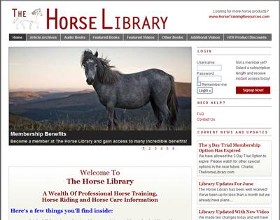 The Horse Library - Horse Training Videos, Horse Articles, Horseback Riding Tips
